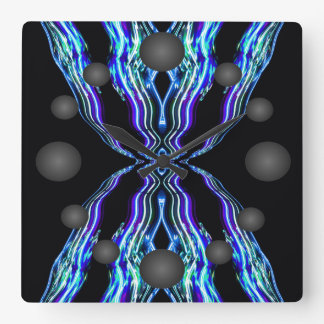 Electricity Electron Blue Electric Fire Lightning Wall Clocks
