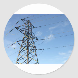 Electricity Pylon Classic Round Sticker