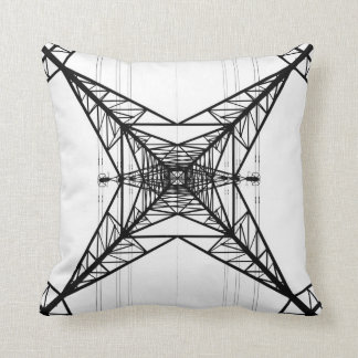 Electricity Pylons  American Mojo Pillow