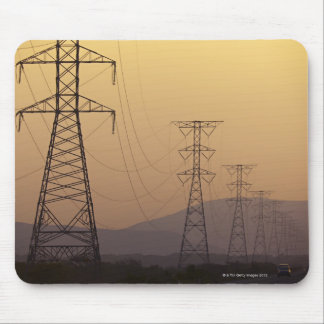 Electricity pylons mouse mat