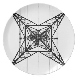 Electricity Pylons  Plate