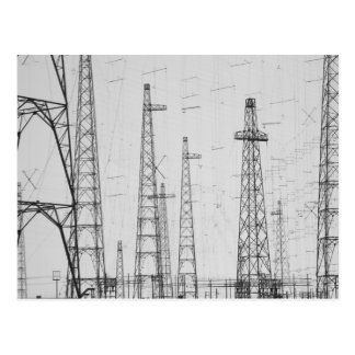 Electricity towers Howick Northumberland Postcard