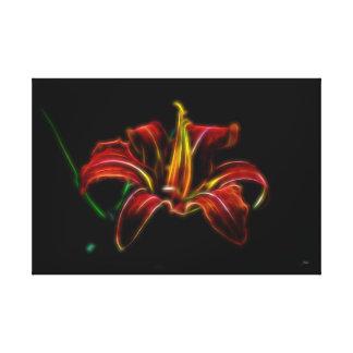 Electrified Orange Lily Canvas Wall Art