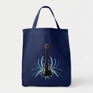 Electrified Ukulele Tote Grocery Tote Bag