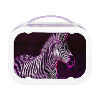 Electrified Zebra Lunch Box