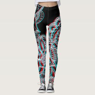 electro 3d mandala leggings