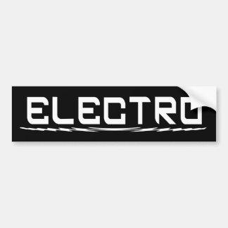 Electro Bumper Sticker