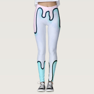 electro drip bubblegum leggings