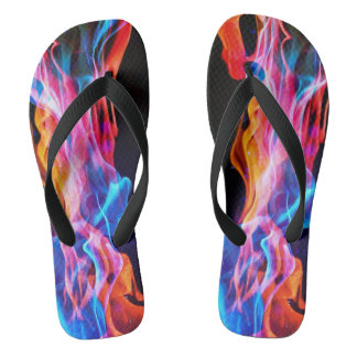 electro flame unisex flip flops