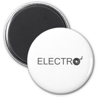 Electro - Music turntable vinyl record DJ Clubber 6 Cm Round Magnet