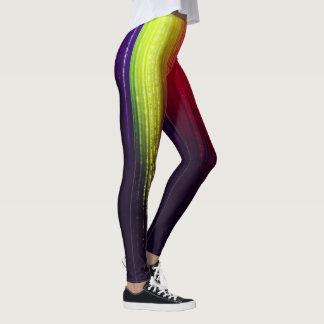 electro rainbow trail leggings