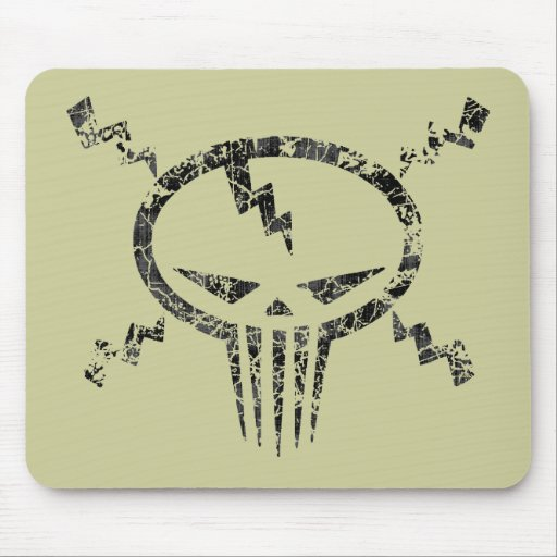 Electro Skull Mouse Pad