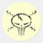 Electro Skull Stickers