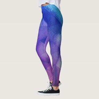 electro watercolor leggings