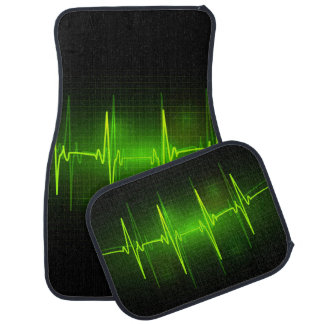 Electrocardiogram Waves Car Mats Car Mat