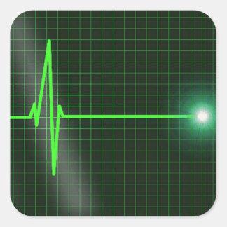 Electrocardiogram Waves Sticker Pack