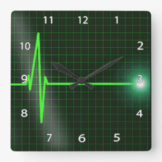 Electrocardiogram Waves Wall Clock