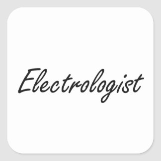 Electrologist Artistic Job Design Square Sticker