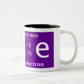 Electron (left handed) Two-Tone mug