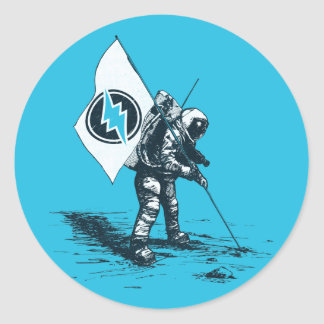 Electroneum Moon Flag Classic Round Sticker