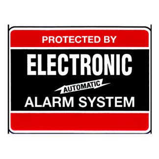Electronic Alarm System Post Cards