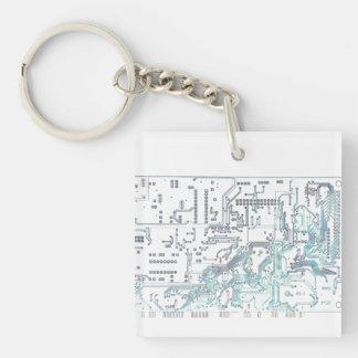 electronic circuit board acrylic keychains