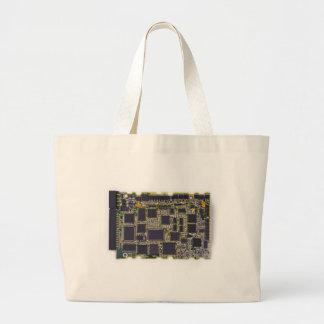 electronic circuit board large tote bag