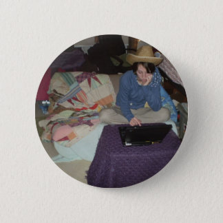 Electronic CowGirl 6 Cm Round Badge