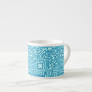 Electronic Digital Circuit Board Espresso Cup