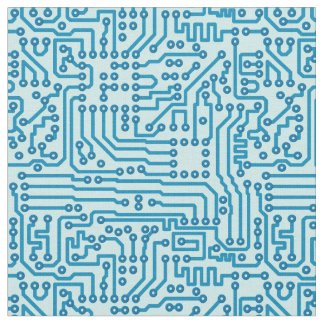 Electronic Digital Circuit Board Fabric