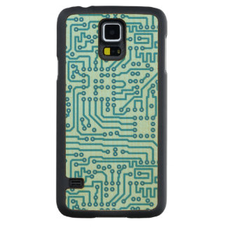 Electronic Digital Circuit Board Maple Galaxy S5 Case