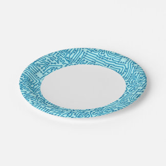 Electronic Digital Circuit Board Paper Plate
