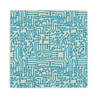 Electronic Digital Circuit Board Wood Coaster
