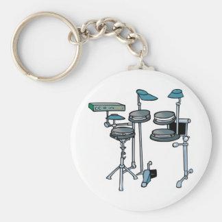 electronic drum set basic round button key ring