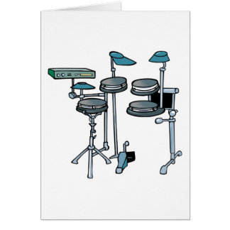 electronic drum set card