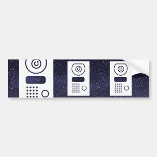 Electronic Gadgets Pictograph Bumper Sticker