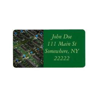 Electronic Geekery Address Label