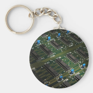 Electronic Geekery Basic Round Button Key Ring