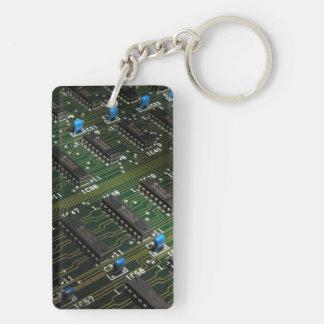 Electronic Geekery Double-Sided Rectangular Acrylic Key Ring