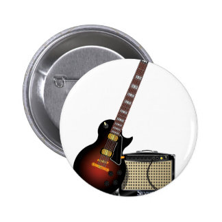 Electronic Guitar 6 Cm Round Badge
