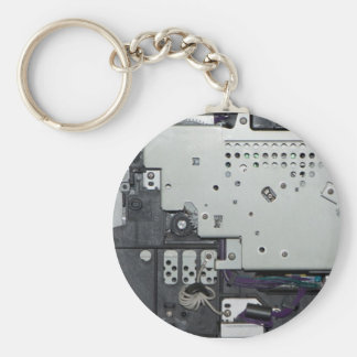 Electronic interior of a laser printer basic round button key ring
