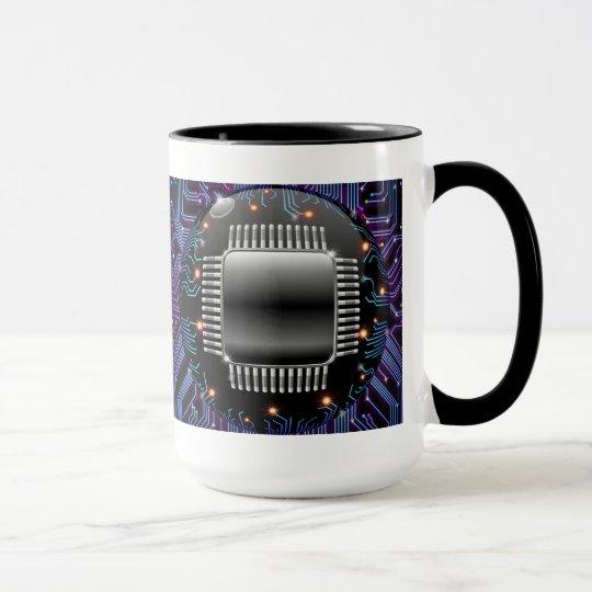 Electronic Motherboard Circuit Mug