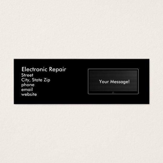 Electronic Repair Mini Business Card