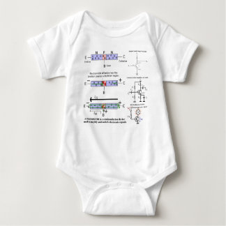 Electronic Signal Amplify Transistor Semiconductor Baby Bodysuit