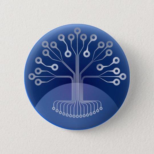 Electronic tree 6 cm round badge