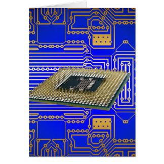 Electronics Circuit Board Greeting Cards