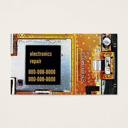 Electronics repair business card template