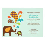 """elefun birthday 5"""" x 7"""" invitation card"""