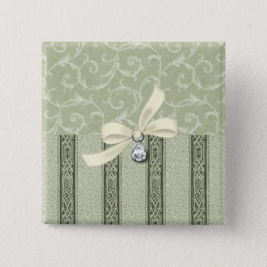 Elegan- Square Buttons: The Elegance Collection 15 Cm Square Badge