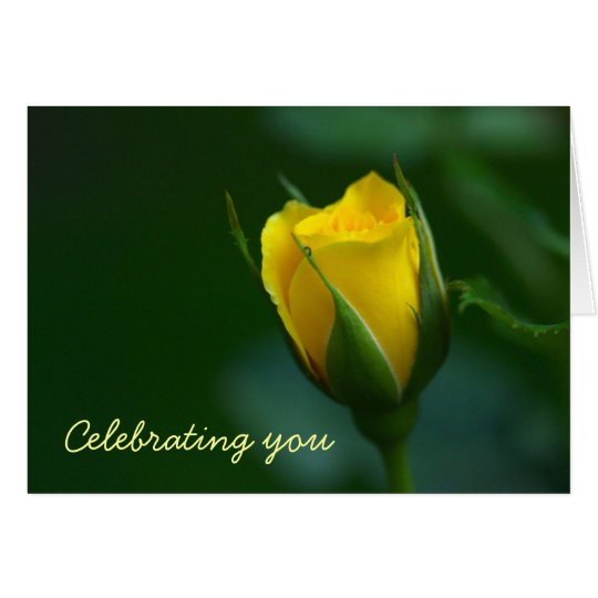 Elegance and Simplicity. Sunny Birthday Greetings Card